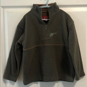 Ragscals 100% poly green sweater w/ helicopter